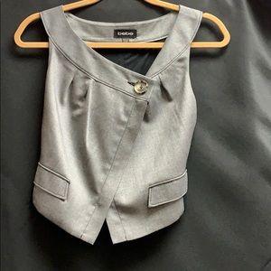 Bebe vest like suit top